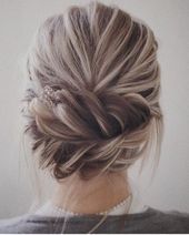 Trendy Hochsteckfrisuren für mittellanges Haar, Hochsteckfrisur Frisur Ideen – Flechtfrisur Hochzeit
