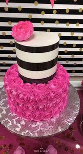 Geburtstagstorte schwarz-weiß Kate Spade 17+ Ideen für 2019 # Kuchen #Geburtstag   – Mary,s board