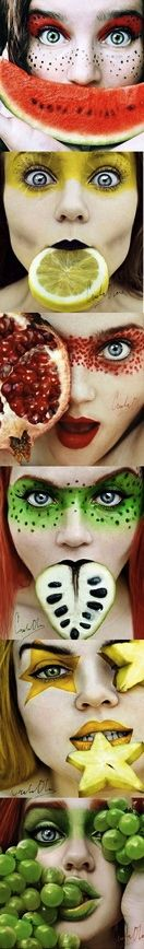 Frucht-Make-up.   – Beauty shots.