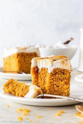Veganer Kürbis-Kuchen mit dem Butterscotch-Strudel-Bereifen [SPONSORED] – Diese vegane …