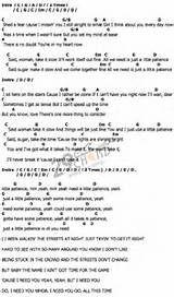 Paradise City Guns N Roses Lyrics And Chords Guitar Sheet