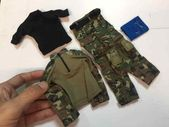 "1//6 Soldier Story U.S Air Force TACP JTAC Uniform+tee+neck gaiter for 12/"" figure"