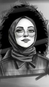 خلفيات بنات محجبات كرتون Hijab Cartoon Hijab Drawing Digital Art Girl