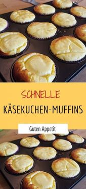 Schnelle Käsekuchen-Muffins – Sprainnews