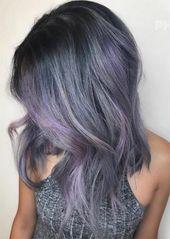 Winter Haarfarben Ideen & Trends: Lavendel Rauchhaar #coolesthairstyleforwomen #winterhaircolor