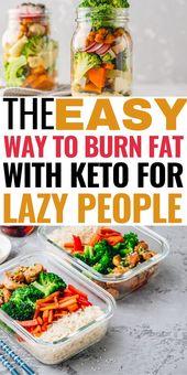 ¡La manera fácil de quemar grasa con ceto para personas perezosas! Este sencillo plan de comidas keto es …