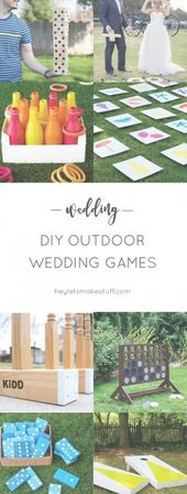 If you're having an outdoor wedding, lawn games are a fun way to make sure y…
