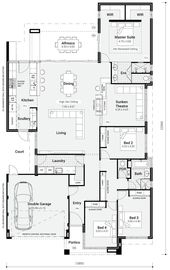 Floor Plan Friday: Chef's kitchen & scullery with servery window