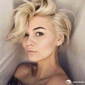 25 schicke Kurzhaarfrisuren für dickes Haar – #di…