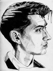 Image result for easy ideas for graffiti stencils arctic monkeys  – Alex Turner is GOD
