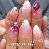 Hand / Gradation / White-my_nail Nageldesign[No.705285]| Nagelbuch
