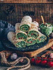Spinatwickel mit Cashewkäse (vegan)   – Rezeptideen
