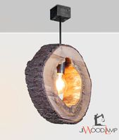 Wood pendant light, Wood lamp, Rustic light