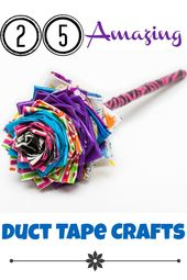 25 Amazing Duck Tape Crafts For Kids