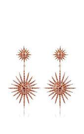 Double Starburst Brown Diamond Ohrringe von Bochic …