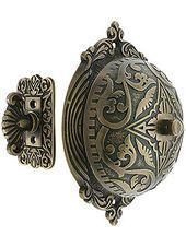 Eastlake Model Twist Door Bell In Stable Brass