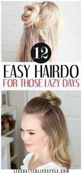 Einfache Frisuren nach der Dusche #Einfache Frisuren, #Einfache #Einfache Frisuren #Frisuren #Schnelle Frisuren ... -