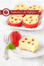 Photo of Cheesecake muffin recipe – with strawberry hearts