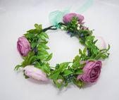 Fairytale Gift Greenery flower crown Hair flower wreath Flower Crown Wedding Bridesmaid crown Bridal floral crown Flower headband peony