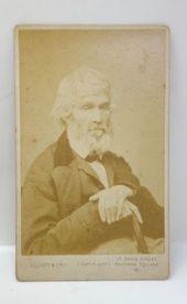 Antique 19c Victorian Thomas Carlyle Photograph Cdv Carte De Visite Carte De Visite Antiques Antique Photos