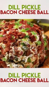 Dill Pickle Bacon Cheeseball