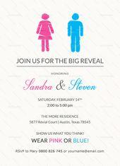 Gender Reveal Invitation Template Gender Reveal Invitations Template Gender Reveal Invitations Gender Reveal