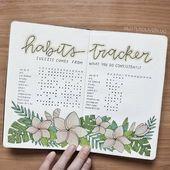 15 Clevere Ideen für das Habit Tracker Bullet Journal, um endlich schlechte Gewohnheiten zu brechen