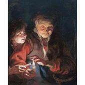 Arte de la lona de la escena nocturna – Peter Paul Rubens (24 x 36) – Walmart.com   – art