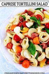 Tortellini Caprese Salat – #caprese #salat #tortellini – # Ava'sCapreseSalat