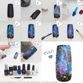 Tutorial Pictorial For Detailed Instructions On How To Achieve These Galaxy Nails Check Out My Instagram Account