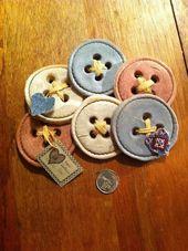 Salt dough buttons .too cute – #buttons #Cute #Dou…