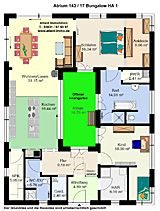▷ extrem cooler Grundriss für einen Bungalow. Bärenhaus Bungalow ...