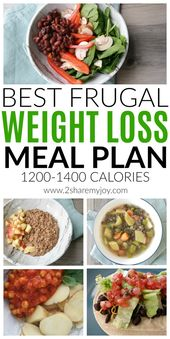 Best Frugal Weight Loss Meal Plan (1200-1400 Calories)