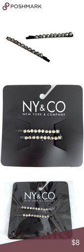 """New York & Co. Perlen Bobby Pin Haarspange Zubehör New York & Co Perlen Ball Haarspange Bobby Pin Silber Schwarz 2 """"Haar-Accessoire Zustand: NWT Hergestellt ..."""