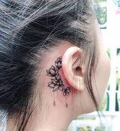 Ohr Tattoo 💙 Welches magst du am liebsten? . Vergiss nicht, uns zu folgen Fol…