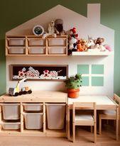 Kinderzimmer mit Ikea Trofast und Latt