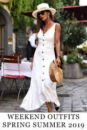 14 Best Weekend Outfits for Stylish Woman – Spring Summer 2019