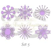 SVG Set 5-6 verschiedene flache Zentrum für Papier Blumen – Maschine nur (Cricut und Silhouette) DIY und handgefertigten Riesen Papier Blume Vorlagen – Foam crafts