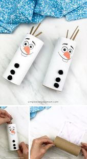 Toilet Paper Roll Olaf Craft