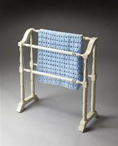 Masterpiece White Wood Blanket Rack Chalks Baby Blanket Baby Blanket   – Laury8852Haag8