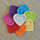 PDF Granny Coronary heart Coaster N Motif Crochet Sample