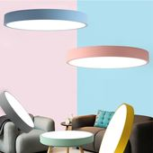 Ceiling lamp Led Modern Rund in macarons color for children's rooms