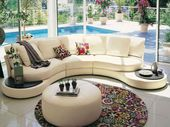 20 Modern Living Room Designs with Stylish Sweeping Sofas – Latest Decor