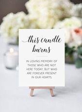 Memorial Candle Sign, diese Kerze brennt, In Memory Candle Sign, druckbare Memori …