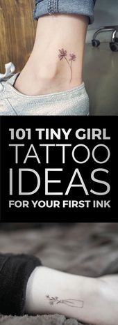 101 kleine Mädchen Tattoo Ideen für Ihre erste Tinte – Tatowierungen