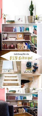 DIY + Bauanleitung für ein Eckregal