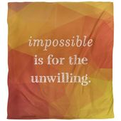 East City House Quotes Fake Gemstone Unattainable Single Reversible Quilt Cowl | Wayfair
