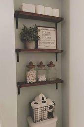 85 Ideen für bäuerliche Badezimmer-Aufbewahrung …
