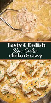 Easy Slow Cooker Hühnchen & Soße
