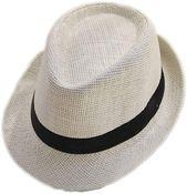 U2buy straw sun hat women men's jazz fedora panama beach cap – Products